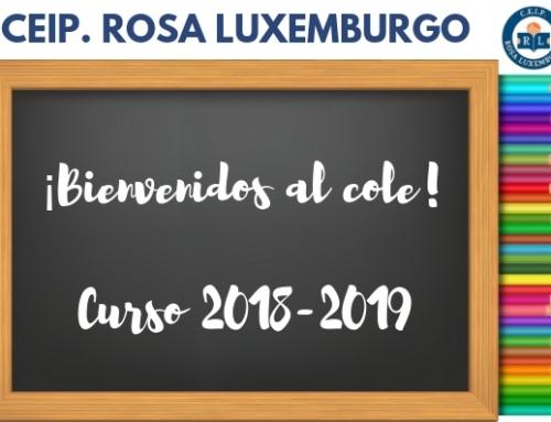¡BIENVENIDOS AL CURSO 2018-2019!