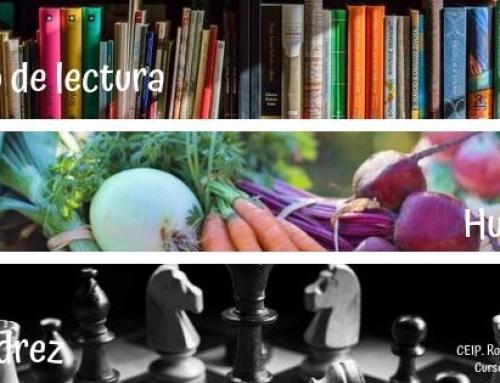 Inscripción de ajedrez, huerto y club de lectura